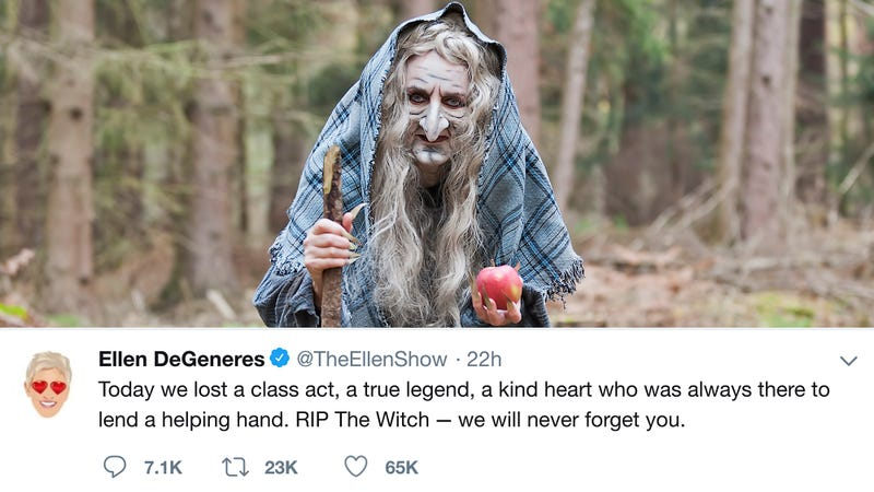Illustration for article titled Heartwarming: Celebrities Across Social Media Are Sharing Touching Tributes And Stories About The Witch Because The Witch Has Melted