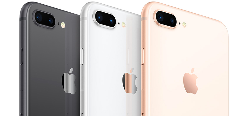 The upcoming iPhone 8 comes in space gray, silver, and just plain gold. Image credit: Apple