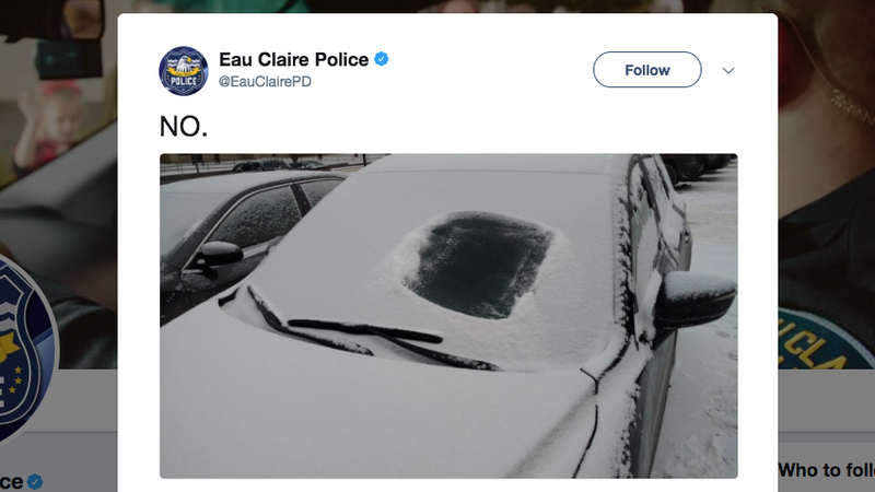 Photo: Eau Claire Police via Twitter