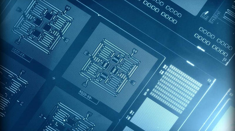 An IBM four-qubit chip