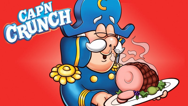 Illustration for article titled 4 Cap'n Crunch Commercials Where Cap'n Crunch Seems Way More Excited About Lunch Meat Than Cereal