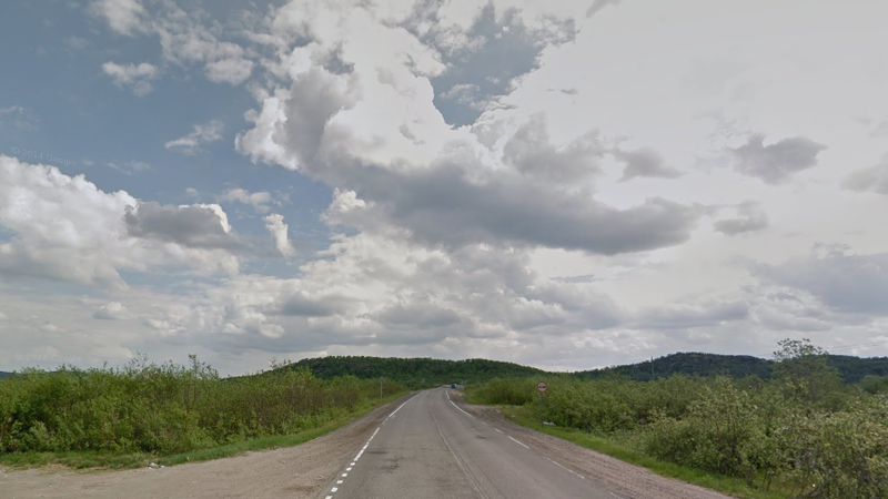 A Google Street View of the area in in far northern Russia where the helicopter flyby reportedly took place.