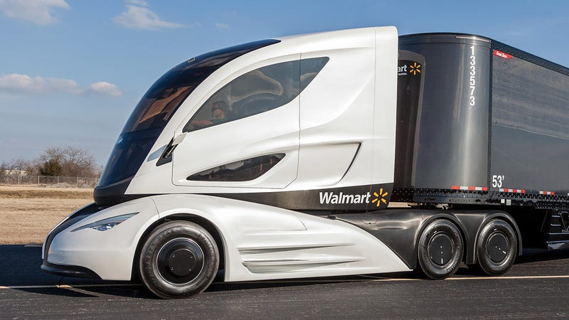 Illustration for article titled This Futuristic Truck Was Actually Designed By Walmart