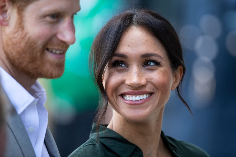 Prince Harry, Duke of Sussex and Meghan, Duchess of Sussex during an official visit to West Sussex on October 3, 2018 in Chichester, United Kingdom.