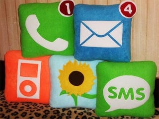 Illustration for article titled It Took This Long To Make iPhone Icon Pillows?