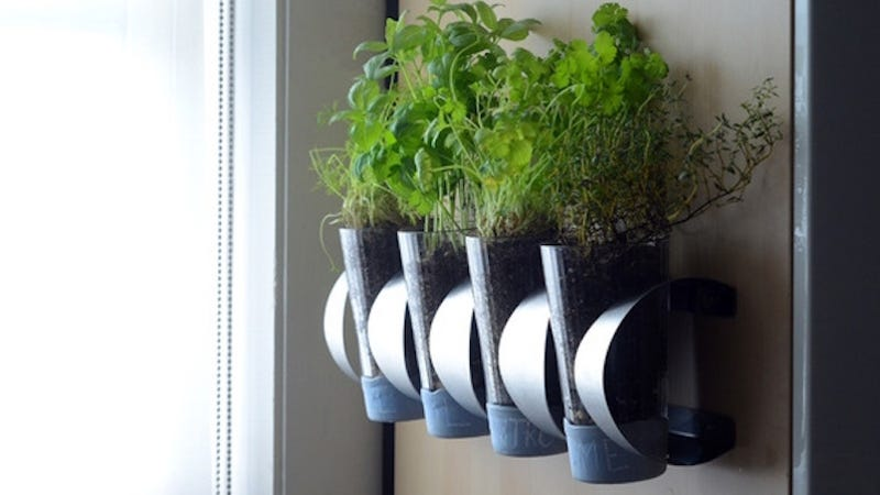 Herb Planter Box Outdoor: Turn An IKEA Wine Rack Into A Wall-Mounted Herb Garden