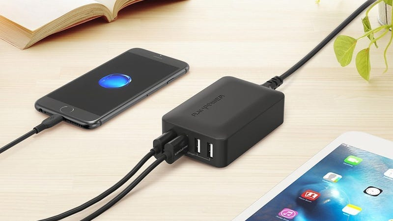 RAVPower 4-Port Quick Charge 3.0 Charging Hub | $15 | Amazon