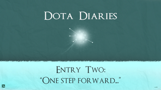 Illustration for article titled DOTA Diaries: One Step Forward...
