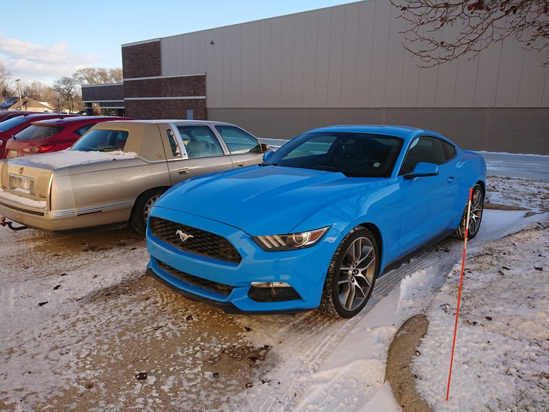 Illustration for article titled Parked by this funny looking mustang.