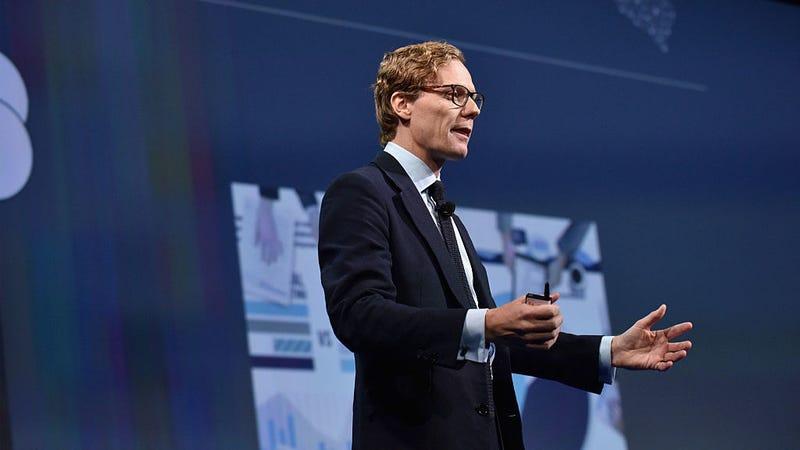 El entonces CEO de Cambridge Analytica, Alexander Nix, en una conferencia sobre segmentación psicográfica en 2016