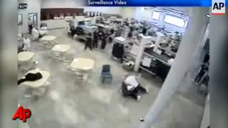Idaho prison brawl captured on surveillance camera.Associated Press YouTube screenshot