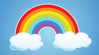 Illustration for article titled Insane Person Endeavors To Poop The Rainbow