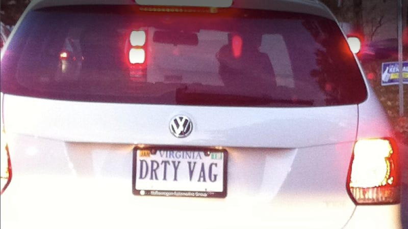 Illustration for article titled How'd the Virginia DMV let this dirty license plate slip by?