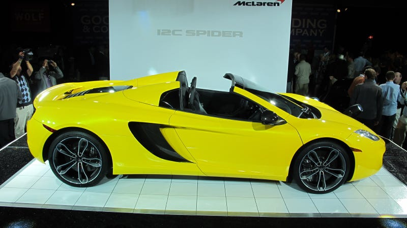 Illustration for article titled See The McLaren 12C Spider Live At Pebble Beach