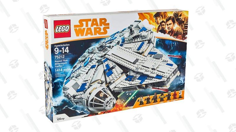 1414-piece LEGO Star Wars Solo: A Star Wars Story Kessel Run Millennium Falcon Set | $115 | Amazon