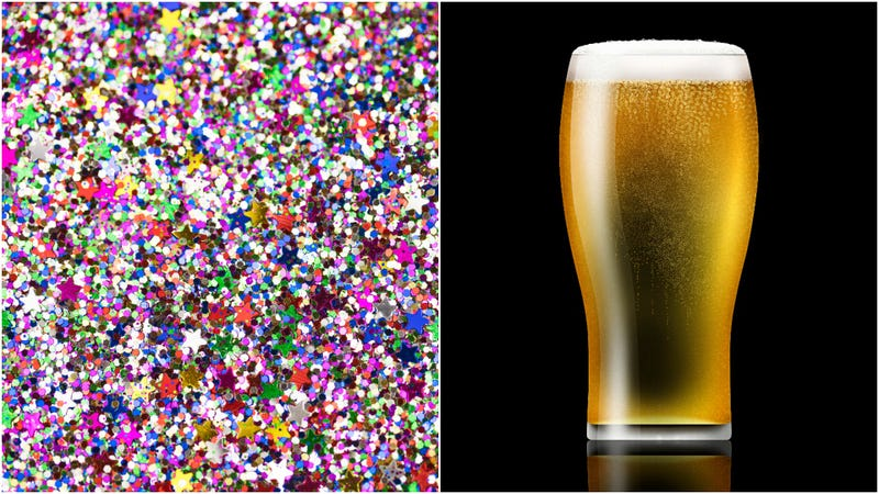 Illustration for article titled Glitter beer is here for more casual nights at the club