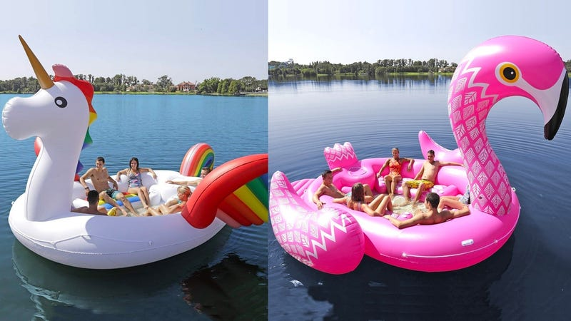 Sun Pleasure GIANT Party Bird Island Flamingo | $185 | AmazonSun Pleasure GIANT Party Bird Island Unicorn | $185 | Amazon