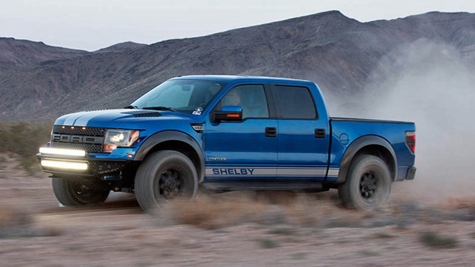 shelby gives the ford raptor 700 horsepower and stripes. Black Bedroom Furniture Sets. Home Design Ideas