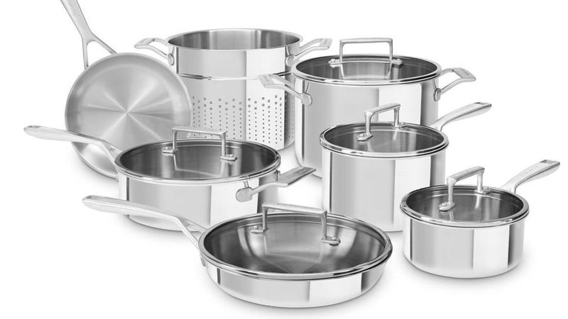 KitchenAid Tri-Ply Cookware Set, $205