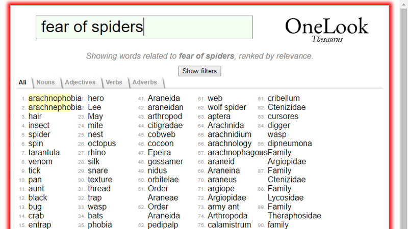 Illustration for article titled OneLook Reverse Dictionary Helps Find That Word You Can't Remember
