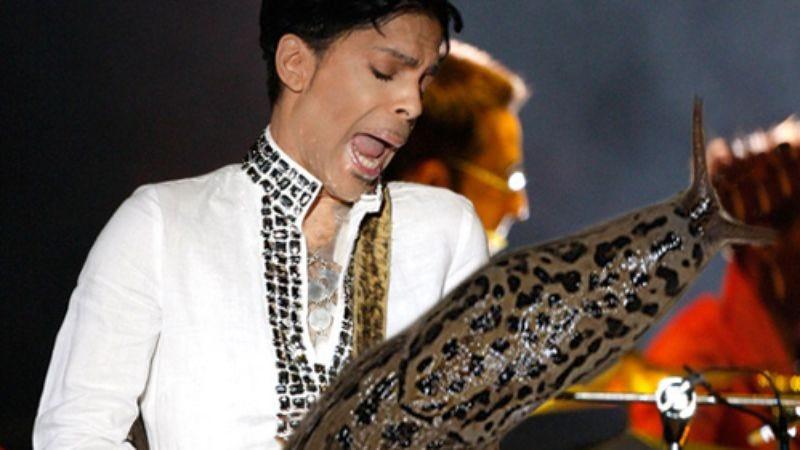 Prince playing a slug