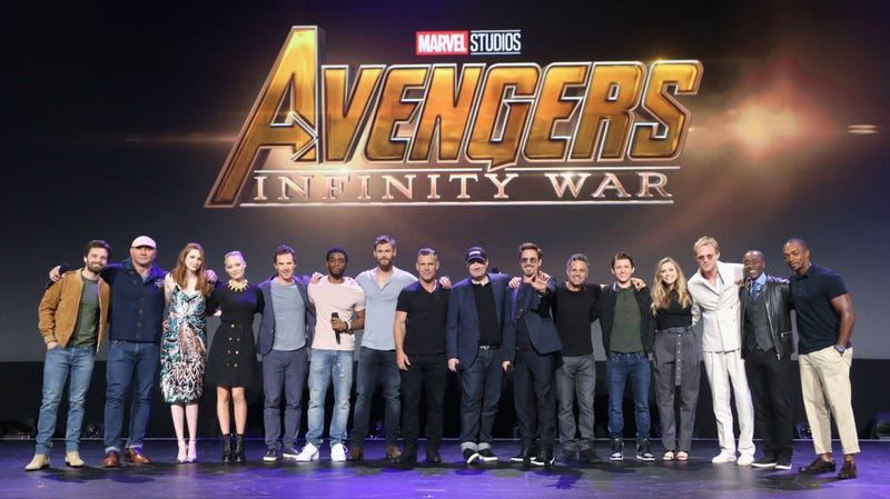 Some, but not all, of the cast of Avengers: Infinity War at the D23 Expo in 2017.
