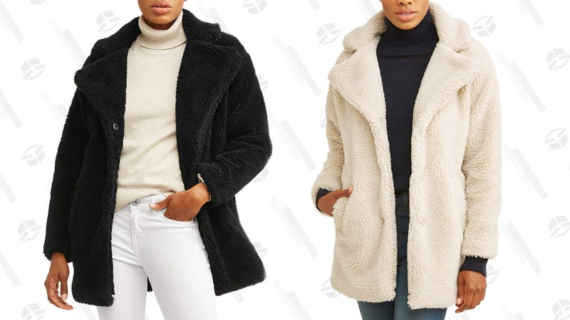 Jason Maxwell Women's Oversized Sherpa Jacket | $29 | Walmart