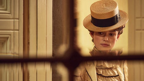 Keira Knightley steps into the dully familiar post-war love triangle