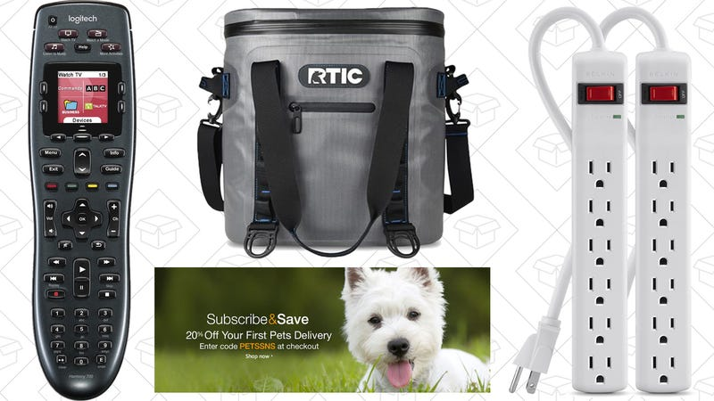 Illustration for article titled Today's Best Deals: Belkin Surge Protectors, RTIC Coolers, Pet Supplies, and More
