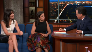 Megan Twohey, Jodi Kantor, Stephen Colbert