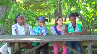 Girl Scouts from Baltimore's Chesapeake Bay Troop 176YouTube screenshot