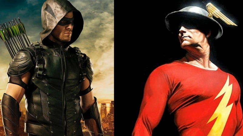 Illustration for article titled Everyone on Arrow gets a new suit, and an old Flash joins The Flash
