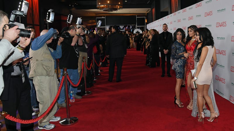 The red carpet at the 2018 Adult Video News Awards.