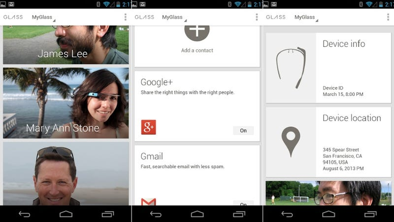 Google's MyGlass Companion App for Google Glass Is Now