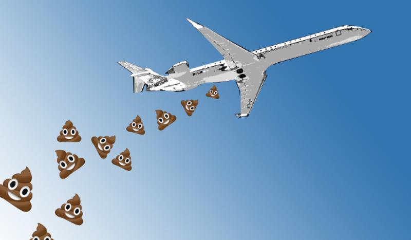 Illustration for article titled Este pueblo de Canadá está convencido de que los aviones arrojan caca sobre sus casas