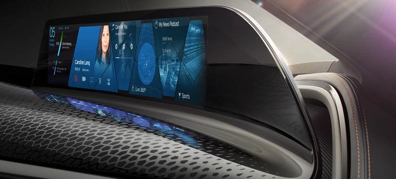 Illustration for article titled BMW AirTouch Controls Basically Put You Inside Your Car's Touchscreen