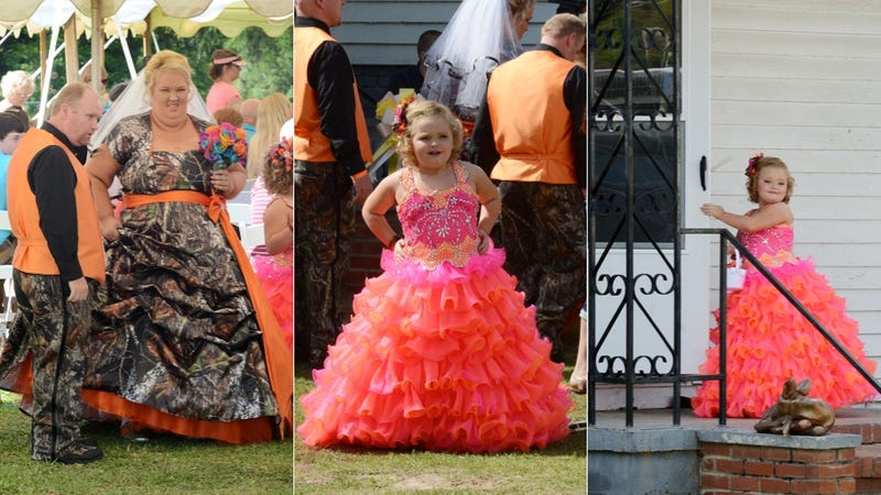 Behold: Astounding Camo and Hot Pink Gowns at Mama June\'s Wedding