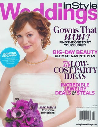 "Illustration for article titled ""Curves"" Are The Theme Of Christina Hendricks' Wedding"