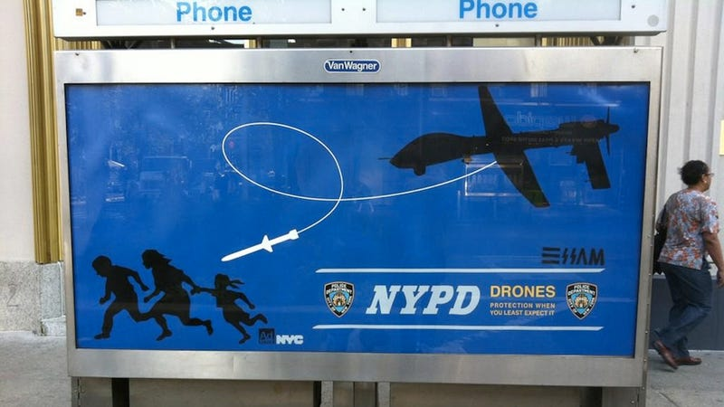 Illustration for article titled Meet the Street Artist Who's Wanted by the NYPD for Punking the Police with Fake Drone Ads