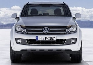 Illustration for article titled VW Amarok Officially Shows Off Decidedly Un-Wolf-Like Face