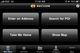 Illustration for article titled Navigon for iPhone Sucker-Punches TomTom With Text-to-Speech, iPod Controls