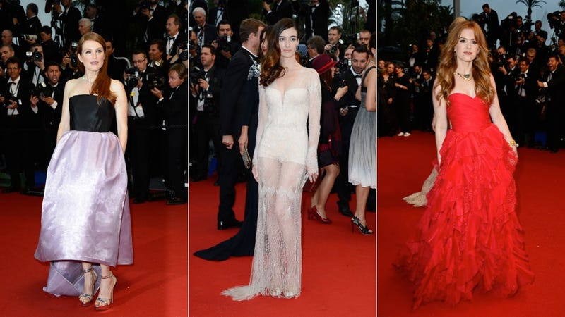 Illustration for article titled Cannes Opening Ceremony: Julianne Moore, Paz Vega, Isla Fisher