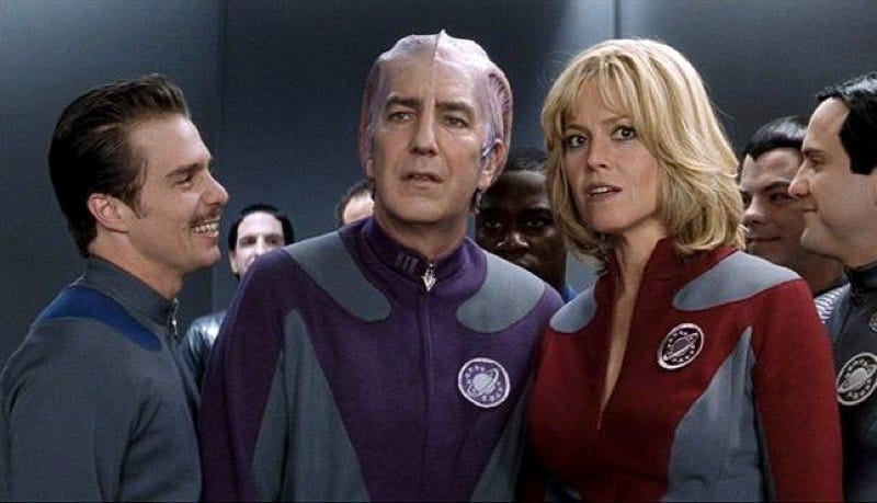 Illustration for article titled The Death of Alan Rickman May Have Halted theGalaxy Quest TV Show
