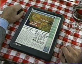 Illustration for article titled Tablet Newspaper (1994)