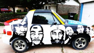 Illustration for article titled Oklahoma City Thunder Fan Is Selling His Homemade Painted Car