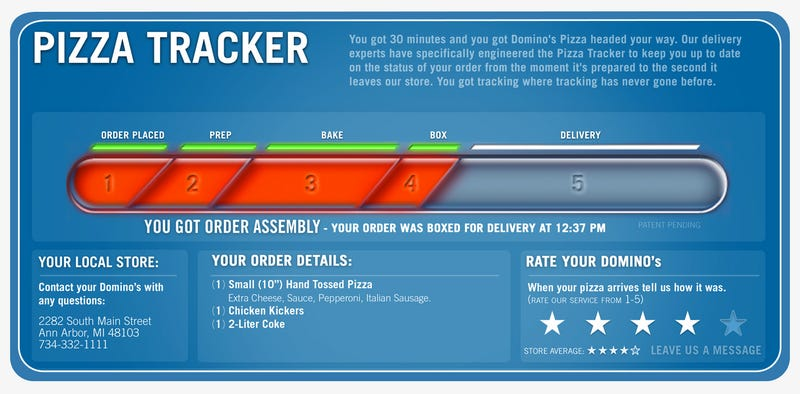 Image result for domino's pizza tracker