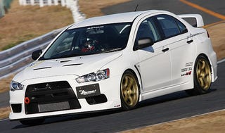 Illustration for article titled HKS Mitusbishi Lancer Evo X Gets HP Boost And Suspension Upgrades