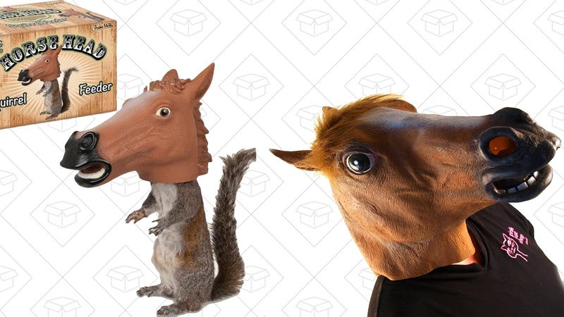 Accoutrements Horse Head Squirrel Feeder | $10 | AmazonAccoutrements Horse Head Mask | $8 | Amazon