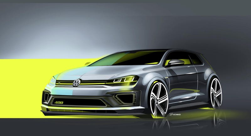 Illustration for article titled The Volkswagen Golf R 400 Concept Is A Golf That Can Go 174 MPH