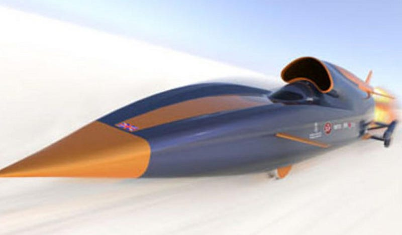 Illustration for article titled Frank Sinatra Would Drive The Bloodhound SSC